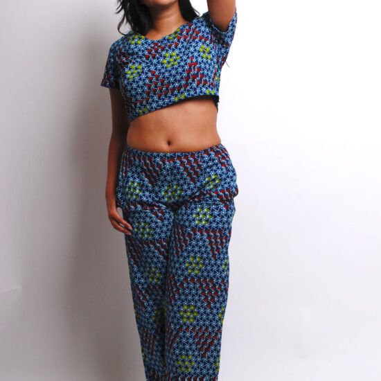 ankara crop top and pants