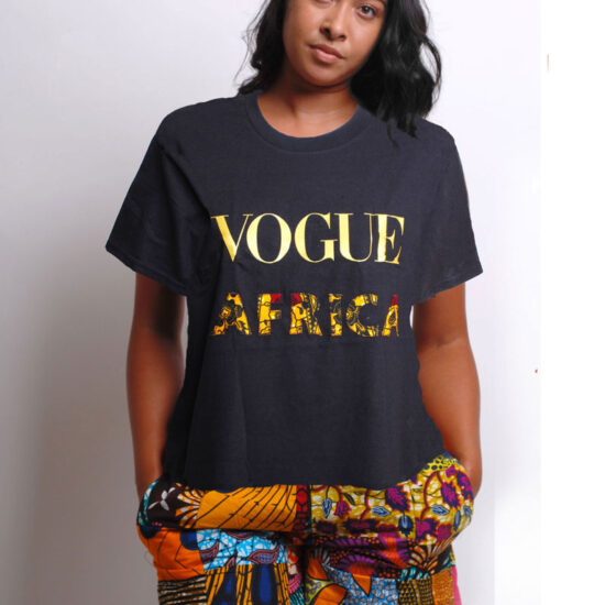 vogue t-shirt with ankara