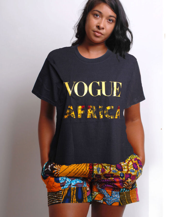 vogue t-shirt with ankara