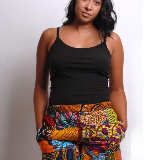 patchwork ankara shorts