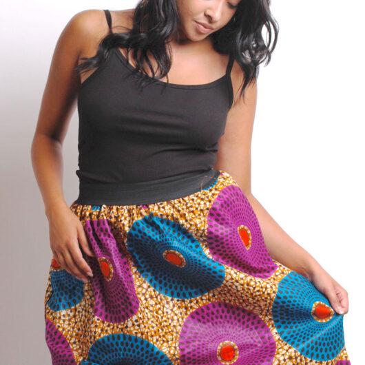 ankara skirt with elastic band