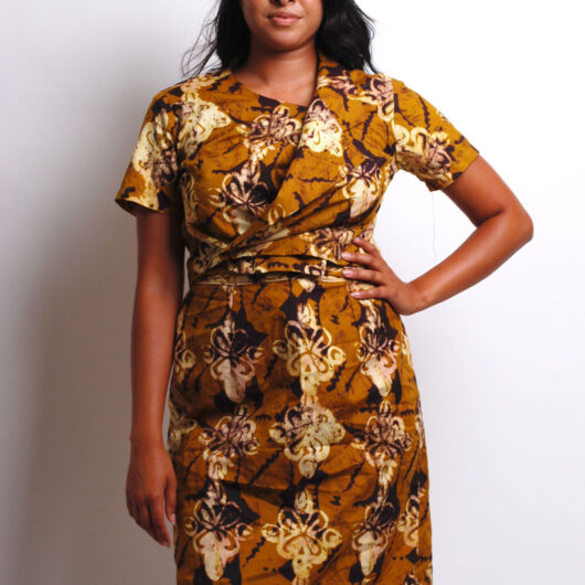 ankara crop top and skirt