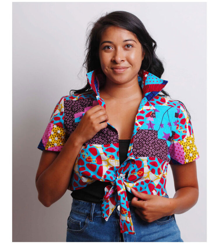 faux patchwork ankara shirt
