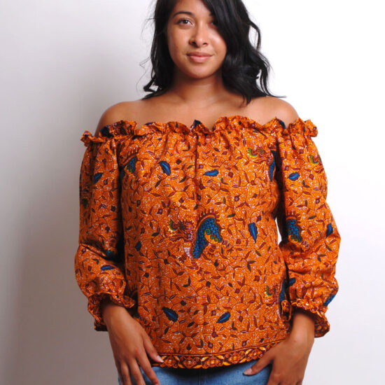 long sleeve ankara blouse