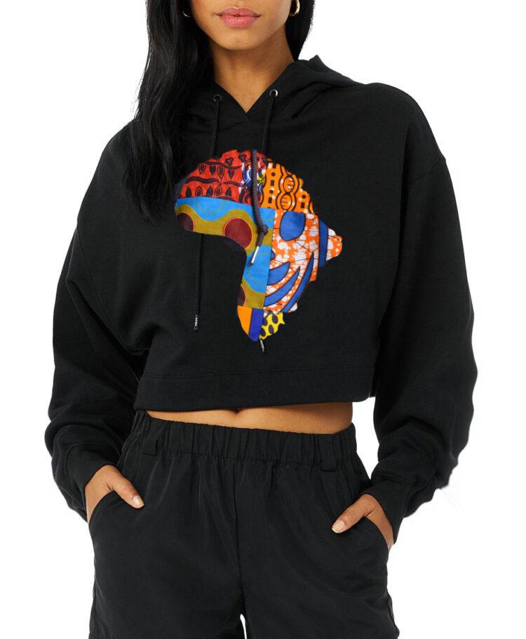 hoodie sweatshirt with africa map